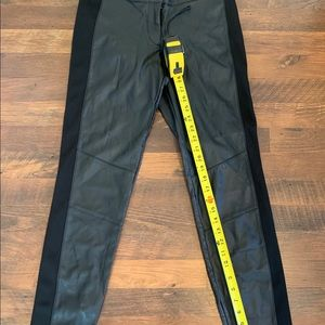 H&M Faux Black Leather Skinny Pants Sz. 8